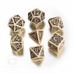 Celtic 3D Dice Beige/Black (7)